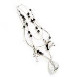 Elegante zwarte en zilveren jewelery   stock afbeeldingen