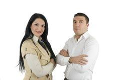 Elegante zwei Geschäftsleute Lizenzfreies Stockbild