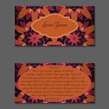 Elegante zwei Seiten der Broschüre Lizenzfreie Stockbilder