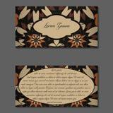 Elegante zwei Seiten der Broschüre Lizenzfreies Stockbild