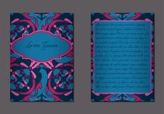 Elegante zwei Seiten der Broschüre Stockbild