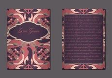 Elegante zwei Seiten der Broschüre Lizenzfreie Stockfotos