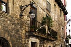 Eleganter Balkon in Barcelona lizenzfreies stockbild