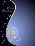 Eleganter blauer Weihnachtshintergrund Lizenzfreies Stockbild