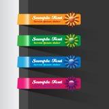Eleganter Blumenfahnen-Satz Lizenzfreie Stockfotos