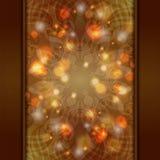 Eleganter brauner aufwändiger Hintergrund mit Spitze Verzierung und boke Lizenzfreie Abbildung