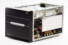 Eleganter Computerkasten lokalisiert auf Weiß Lizenzfreies Stockfoto