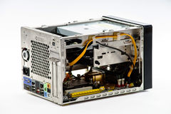 Eleganter Computerkasten lokalisiert auf Weiß Lizenzfreie Stockbilder