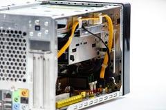 Eleganter Computerkasten lokalisiert auf Weiß Stockfoto