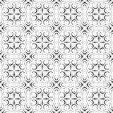 Eleganter Damast-Kalligraphie dekorativer geometrischer Flourish-fantastisches wiederholendes nahtloses Vektor-Muster-Hintergrund Stockbilder