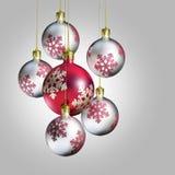 Eleganter dekorativer Weihnachtsflitter. Stockfoto