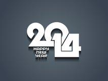 Eleganter Entwurf des guten Rutsch ins Neue Jahr 2014. Lizenzfreies Stockfoto