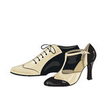 Eleganter Frauen und die Schuhe der Männer Stockbilder