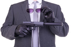 Eleganter Gangster Stockfotos