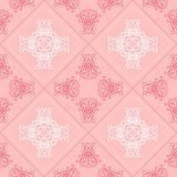 Eleganter geometrischer Hintergrund gemacht vom dekorativen mit Blumenmuster Vektor Lizenzfreies Stockbild