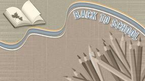 Eleganter Hintergrund zurück zu Schule, Bleistifte, Ausbildungsnotizbuch stock abbildung