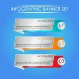 Eleganter Infographic-Satz Lizenzfreie Stockbilder