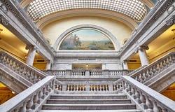 Eleganter Innenraum des Staat Utah-Kapitolgebäudes lizenzfreie stockfotos