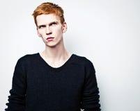 Eleganter junger gutaussehender Mann. Lizenzfreies Stockbild
