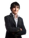Eleganter junger Herr lächelt Stockfotografie