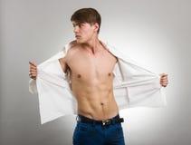 Eleganter junger stattlicher Mann Stockbild