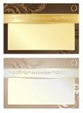 Eleganter königlicher Einladungs-Satz, Vektor-Illustration Lizenzfreie Stockfotografie