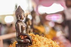 Eleganter kupferner Buddha Stockbilder