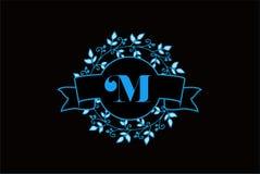Eleganter Monogramm-Buchstabe M Logo Design vektor abbildung