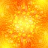 Eleganter orange aufwändiger Hintergrund mit Spitzeverzierung Lizenzfreie Abbildung