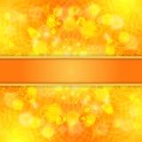 Eleganter orange aufwändiger Hintergrund mit Spitzeverzierung und -band Stock Abbildung