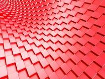 Eleganter roter metallischer Würfelhintergrund stock abbildung