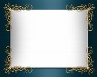 Eleganter Satin des Hochzeitseinladungs-Randes Stockbild