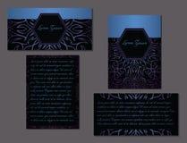 Eleganter Satz von zwei Broschüren Stockbild