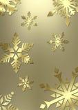 Eleganter Schneeflockehintergrund Stockfoto