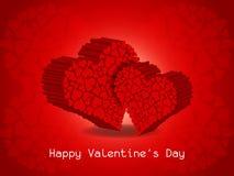 Eleganter Valentinstaghintergrund. Lizenzfreies Stockfoto