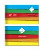 Eleganter Visitenkarteschablonenvektor Stockbilder