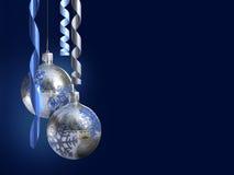 Eleganter Weihnachtsdekor mit glänzendem Flitter Lizenzfreie Stockfotos