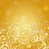 Eleganter Weihnachtsgoldhintergrund Lizenzfreie Stockfotos