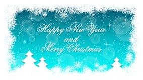 Eleganter Weihnachtshintergrund Hintergrund des neuen Jahres mit Schnee Vektor Abbildung
