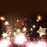 Eleganter Weihnachtshintergrund mit Schneeflocken Lizenzfreie Stockfotos