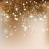 Eleganter Weihnachtshintergrund mit Schneeflocken Stockfotografie