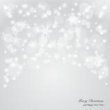 Eleganter Weihnachtshintergrund mit Schneeflocken und p Stockfotos