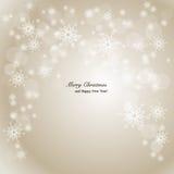 Eleganter Weihnachtshintergrund mit Schneeflocken und p Lizenzfreie Stockfotografie