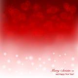 Eleganter Weihnachtshintergrund mit Schneeflocken und p Lizenzfreies Stockfoto