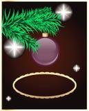 Eleganter Weihnachtshintergrund. Stecken Sie Ihren Text ein. Stockbild