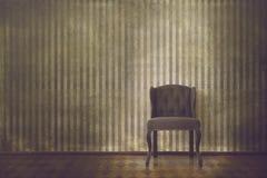 Eleganter Weinleseinnenraum mit Stuhl Lizenzfreie Stockbilder