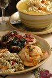 Elegantes Abendessen Stockbild