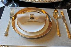 Elegantes Abendessen Stockfoto