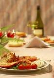 Elegantes Abendessen Stockfotos