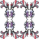 Elegantes Aquarell-nahtloses Muster Stockbilder